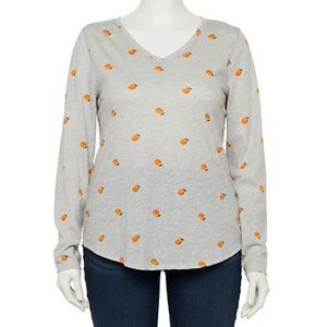 Sonoma Peaches Grey V-Neck T-Shirt